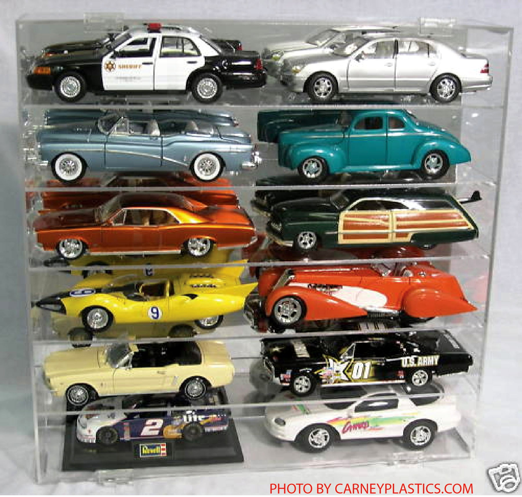 model car display case 1 18 holds 12 cars. Black Bedroom Furniture Sets. Home Design Ideas