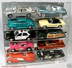 Model Car Display  Holds 10 Tilted Shelf