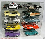 Muscle Car Display Case Holds 10 MUSCLE
