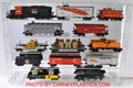 Train Display Case 15 Model Train Cars O