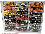 NASCAR Diecast Model Car Display Case 21 Car 1/24 ANGLE Shelves