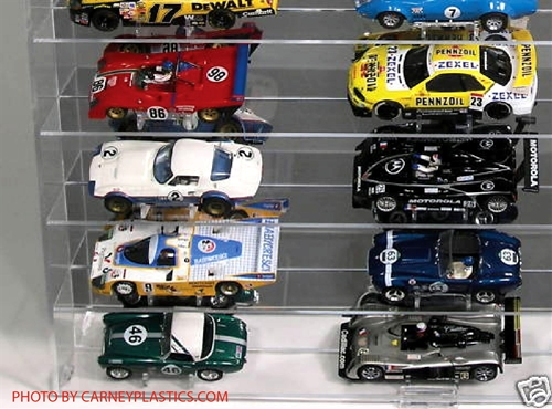 Slot Car Display Case Holds 24 1 32 Cars With No Car Stands