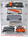 Train Display Case 5 Model Train Cars O