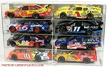 NASCAR Diecast Model Car Display Case 8 Car 1/24