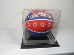 Basketball Display Case Molded with Black Plastic Base