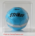 Soccer Ball Display Case Molded Clear M1010C