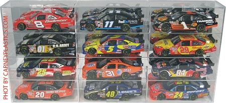 NASCAR Diecast Model Car Display Case 12 Car 1/24