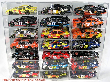 NASCAR Diecast Model Car Display Case  21 Car 1/24