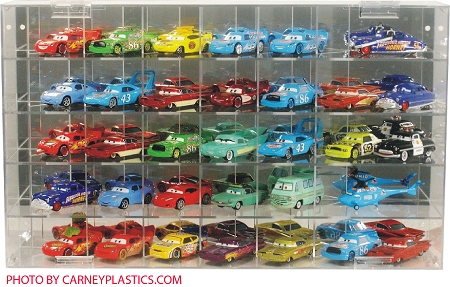 Disney Pixar Display Case 35 Car 1/55 Side Angle