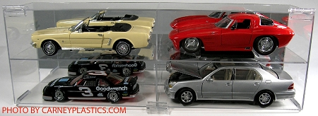 Model Car Display Case 1/18 Holds 4 Cars