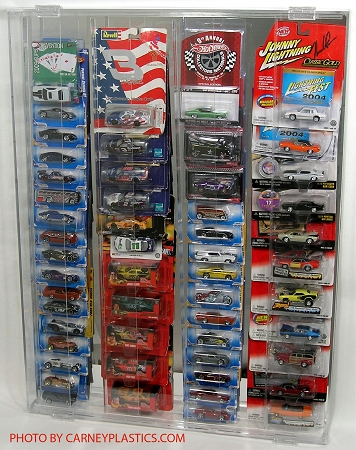Hot Wheels Blister Pack display Case - Holds 44-80 Carded Blister Packs