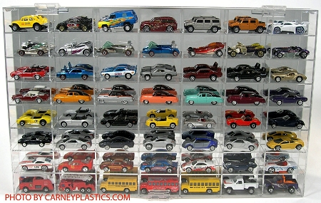 Hot Wheels Display Case 56 Car - 1/64 Scale