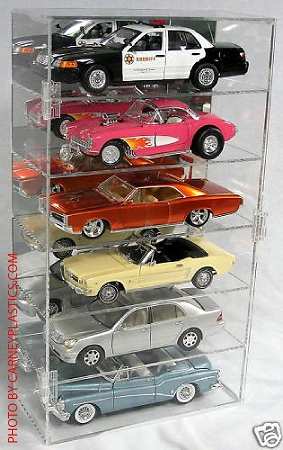 Model Car Display Case 1/18 Holds 6 Cars Vertical