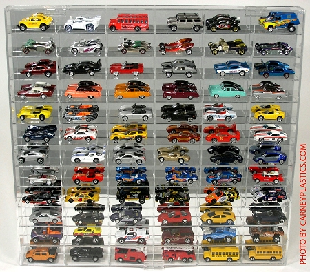 Hot Wheels Display Case 72 LONG Car 1/64 Scale