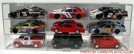 NASCAR Diecast Model Car Display Case  9 Car 1/24 Scale