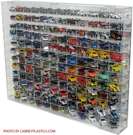 Hot Wheels Display Case 144 Compartment Side Angle 1/64 Scale