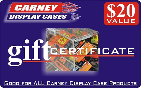 Perfect Gift...$20 Carney Display Case Gift Certificate