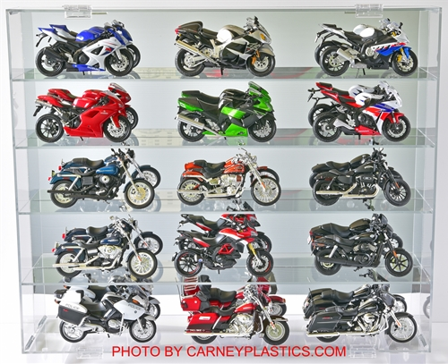 Motorcycle Display Case 15-20 Motorcycles 1/12 Scale
