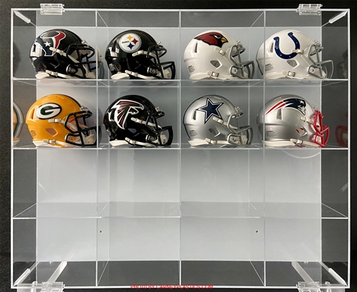 16MFH Mini Football Helmet Display Case