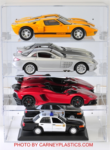 Model Car Display Case holds 4/12 Cars